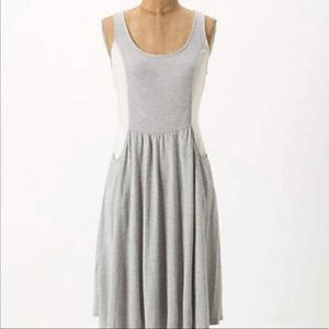 Anthropologie Curved Color-block dress, small